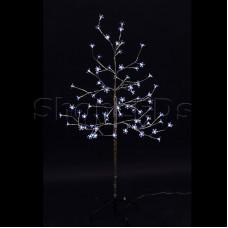 """Дерево комнатное """"Сакура"""", ствол и ветки фольга, высота 1.2 метра, 80 светодиодов белого цвета, трансформатор IP44 NEON-NIGHT"""