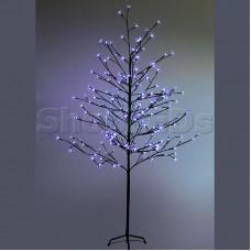 """Дерево комнатное """"Сакура"""", коричневый цвет ствола и веток, высота 1.5 метра, 120 светодиодов синего цвета, трансформатор IP44 NEON-NIGHT"""